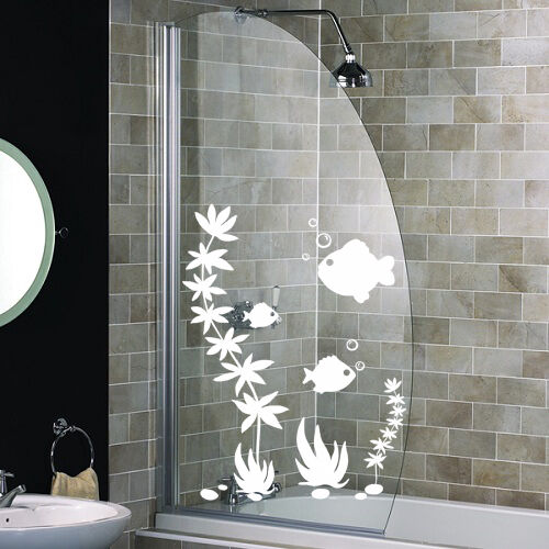 Fish Shower Screen Stickers Bathroom Wall Stickers Wall