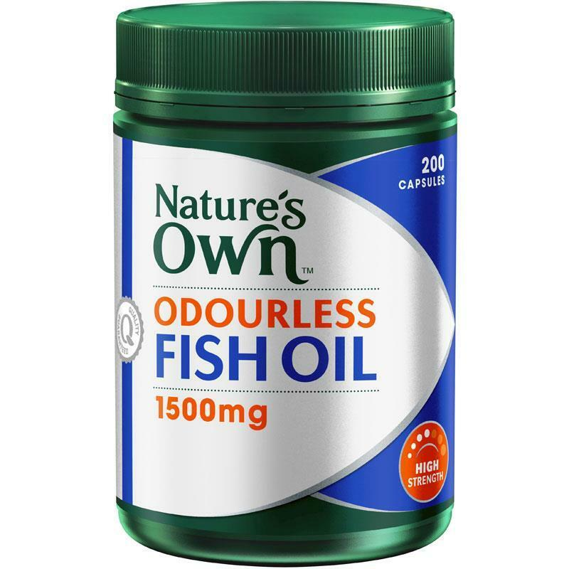 Nature S Way Fish Oil Mg Odourless  Capsules