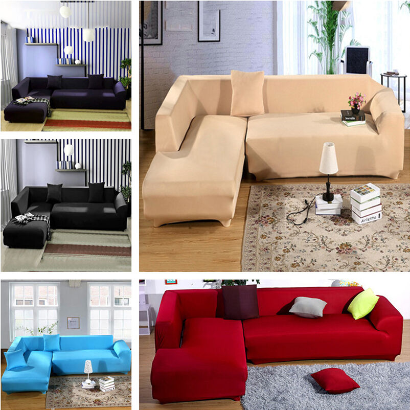 Sofa l shape removable stretch sofa slipcover couch pillow for L shaped sofa colors