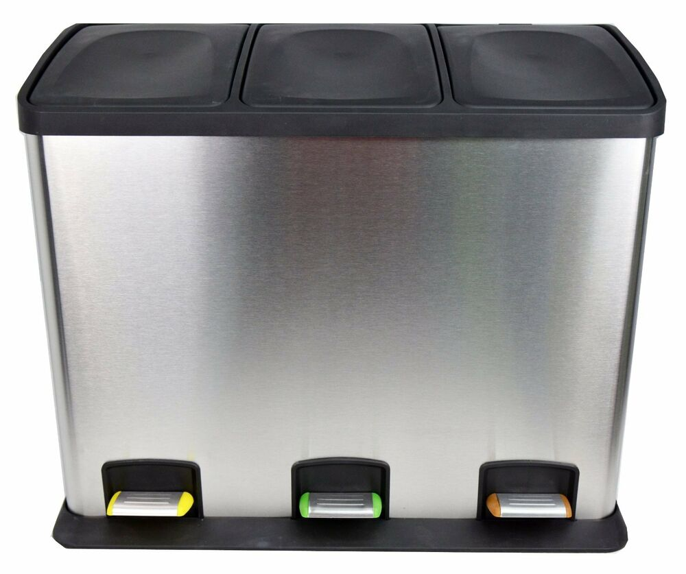 Large recycle kitchen bin recycling bins waste rubbish - Poubelle de tri selectif cuisine ...