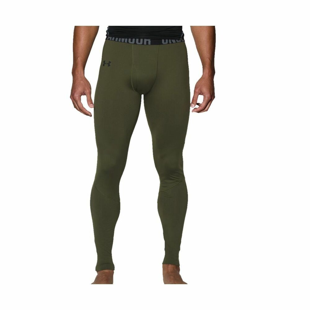 1aa47eaee68304 Details about UNDER ARMOUR MEN'S COLDGEAR INFRARED EVO BASE LAYER LEGGINGS  GREEN #1238397-NWT