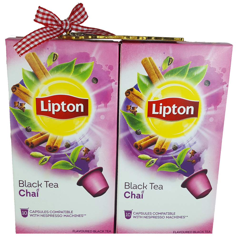 lipton nespresso compatible black tea chai capsules 20 pods not coffee ebay. Black Bedroom Furniture Sets. Home Design Ideas