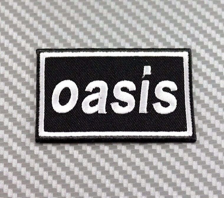 OASIS BAND IRON PATCH SEW EMBROIDERED LOGO HARDCORE ROCK ... Oasis Band Logo