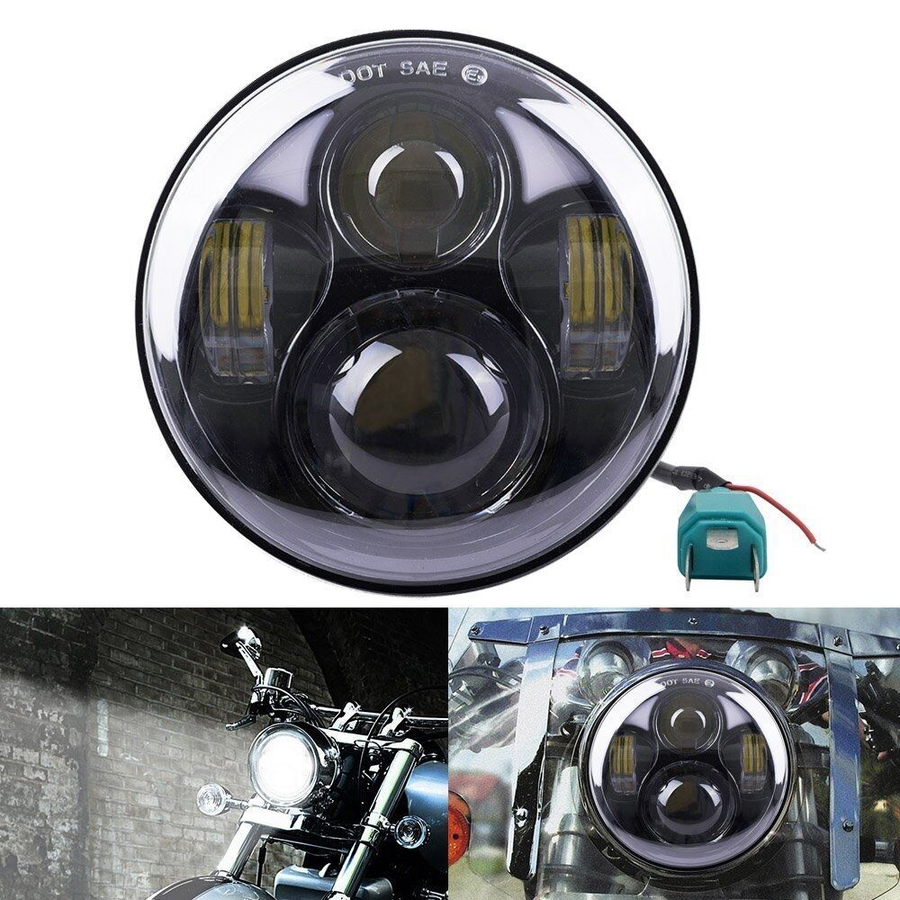 "5.75"" LED Motorcycle Headlight Daymaker Projector Head"
