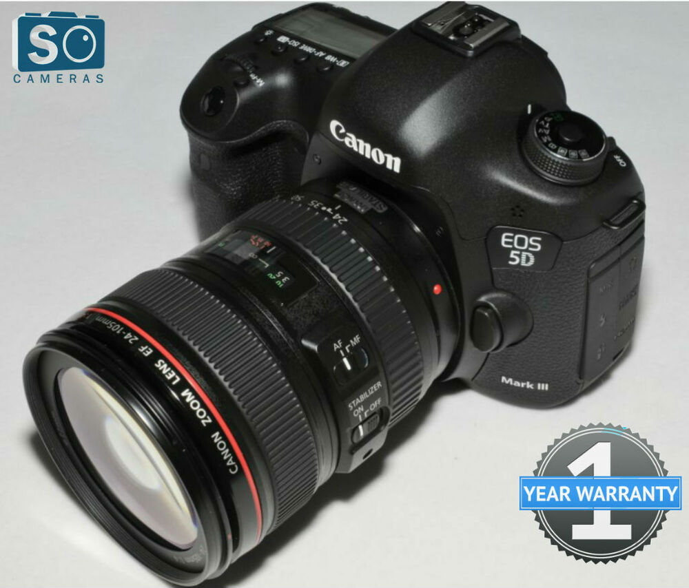 Canon eos 5d mark iii kit w ef 24 105mm f 4l is usm lens for Canon 5d mark i