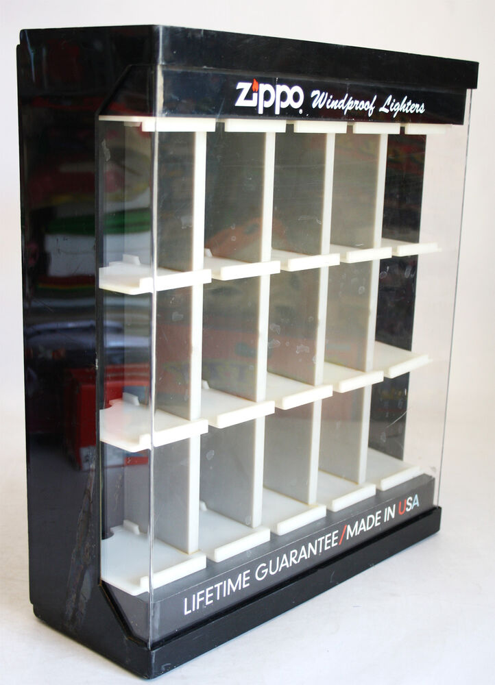 Very Rare Vintage Zippo Shop Display Lighter Case Stand 14