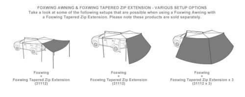 Rhino Rack 31112 Foxwing Awning Tapered Zip Extension