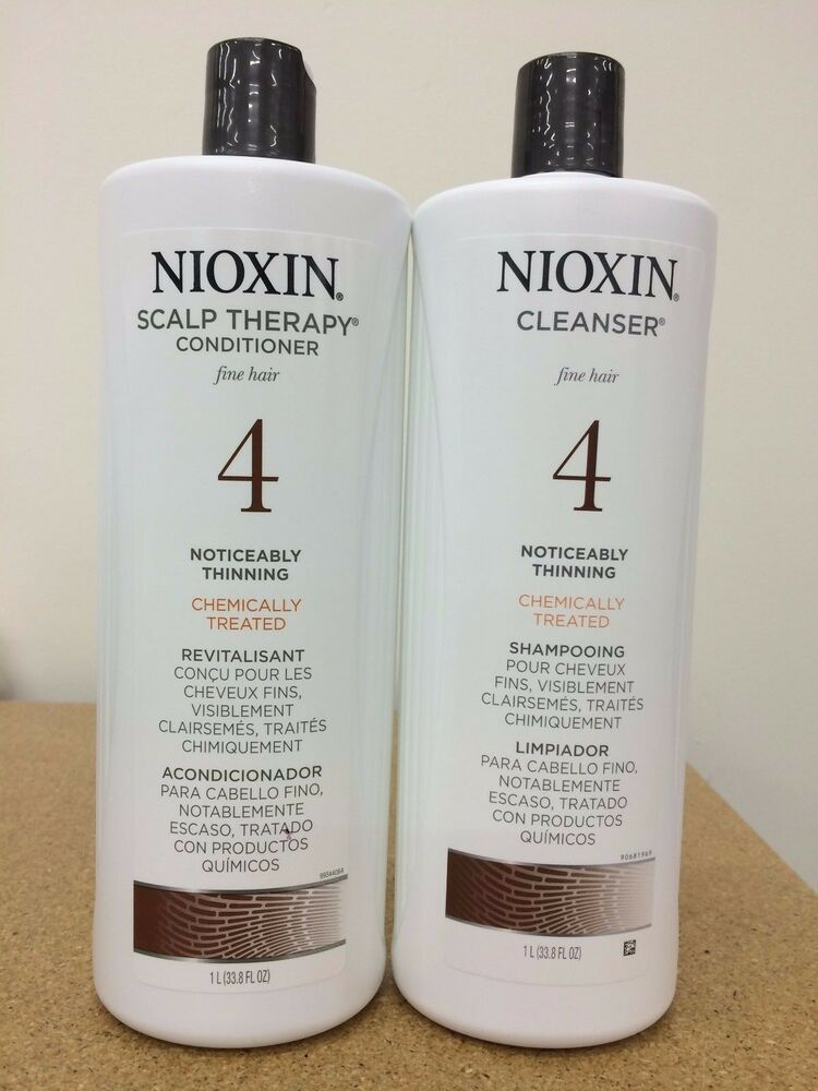 Nioxin System 4 Cleanser Amp Scalp Therapy For Fine Treated