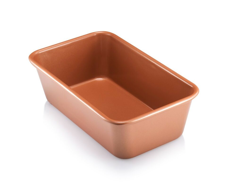 Gotham Steel Bakeware Copper Loaf Baking Pan Non Stick 9