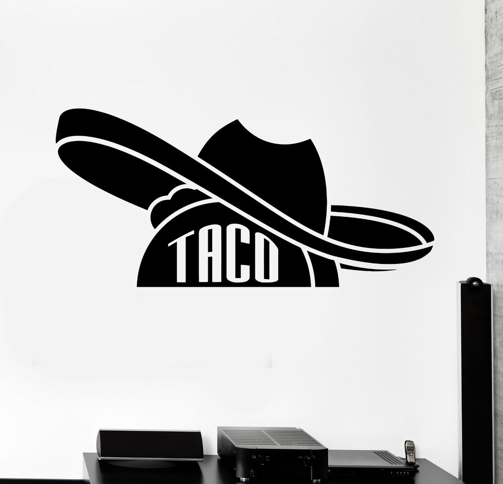 Details about vinyl wall decal taco mexican food sombrero mexico stickers ig4455