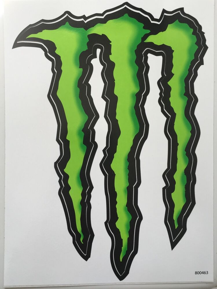 2 large m monster energy sticker decal 8 5 by 6. Black Bedroom Furniture Sets. Home Design Ideas