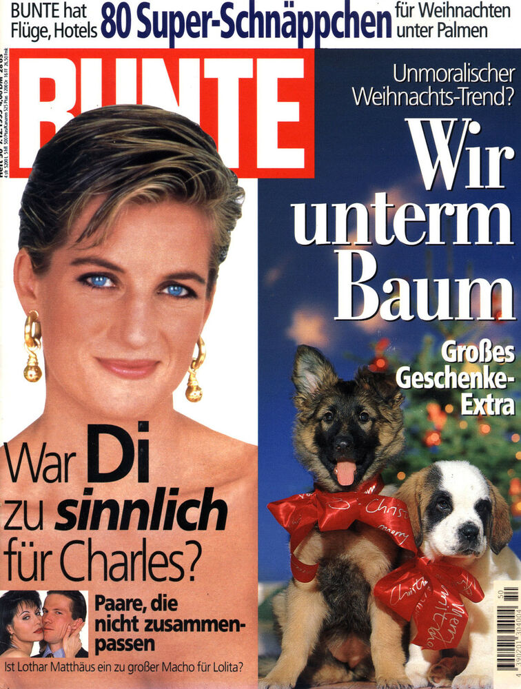 zeitschrift bunte nr 50 von 1995 cover lady di geschenke konstatin wecker ebay. Black Bedroom Furniture Sets. Home Design Ideas