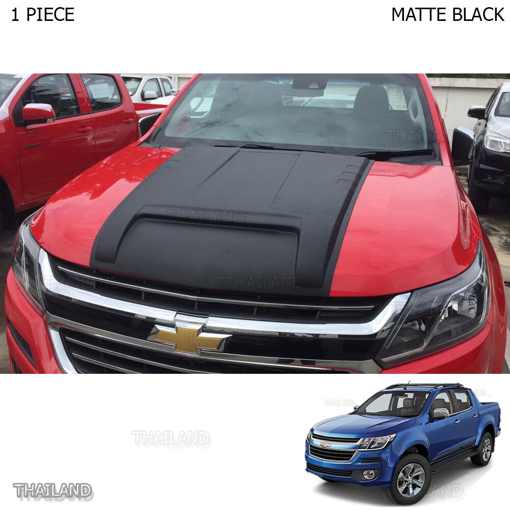 Matte Black Scoop Bonnet Vent Hood Cover For Chevrolet