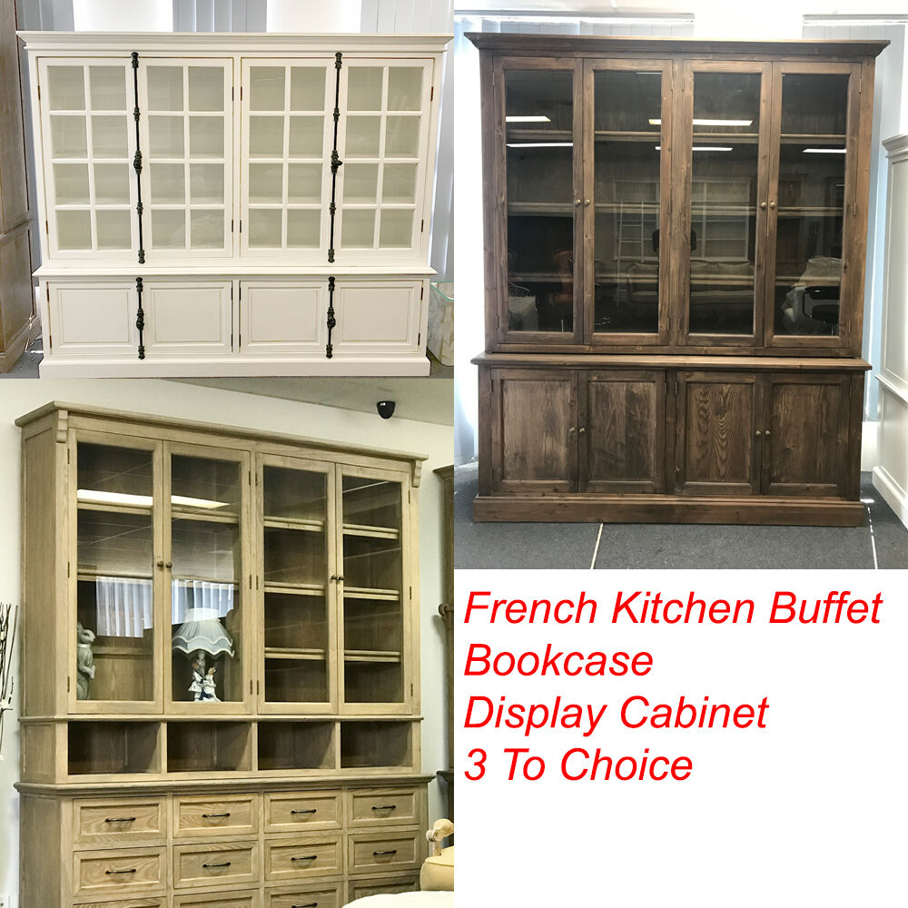 French Provincial Kitchen Cabinets: French Provincial Style Buffet & Hutch, Glass Display