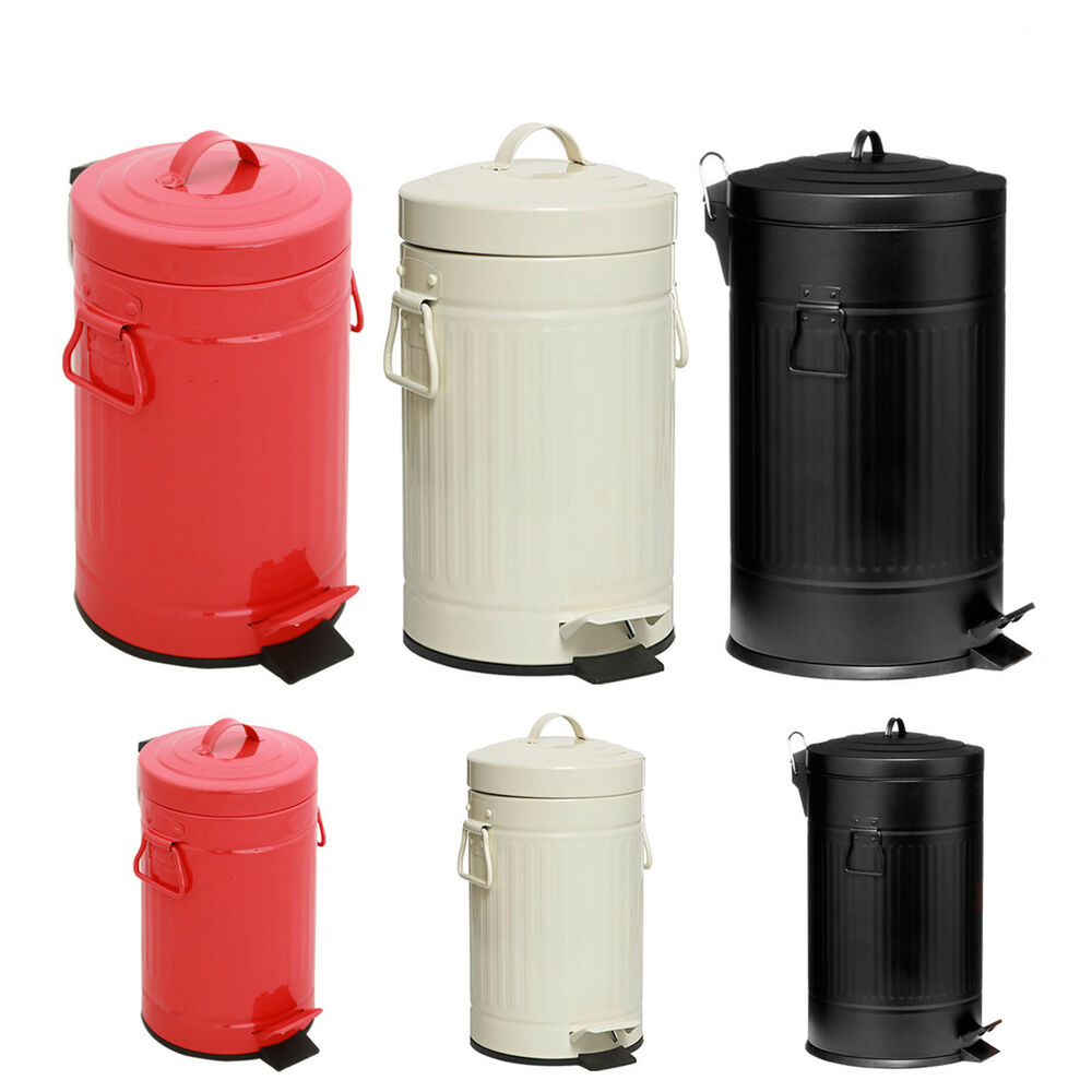 Kitchen Waste Bins: AMERICAN PEDAL BIN KITCHEN BATHROOM US STYLE RETRO RUBBISH