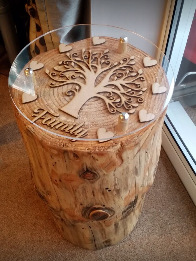 Beautiful Round Hand Crafted Tree Trunk Coffee Tables All Made To Order Ebay