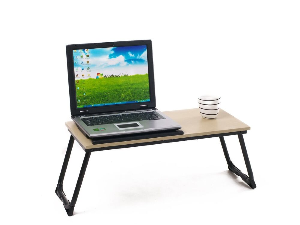 adjustable laptop desk portable table stand for computer notebook pads bed tray ebay. Black Bedroom Furniture Sets. Home Design Ideas