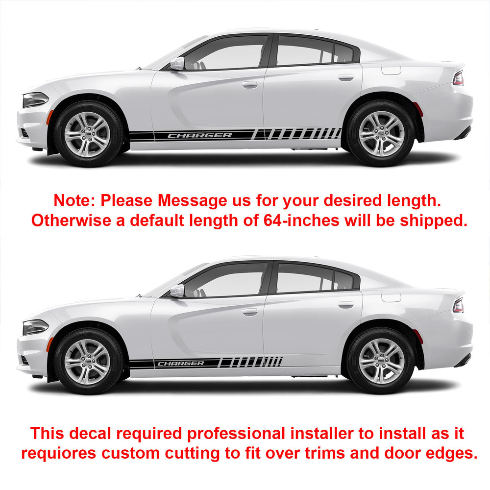 2X Multiple Color Graphics Dodge Charger Symbol Car Racing ...