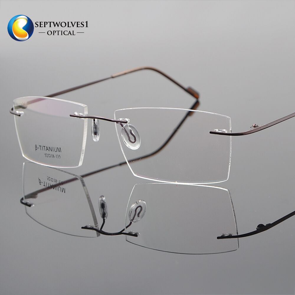 b34bea82b89 Details about Rimless β-Titanium Eyeglass Frame Ultra light Glasses Optical  Eyewear RX Able