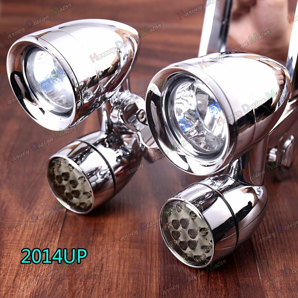 Fairing Mounted Driving Lights Amp Led Turn Signals For Harley