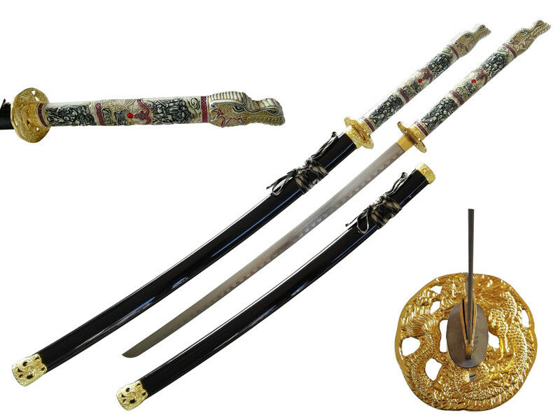 new 42 5 japanese samurai katana sword w highlander 1. Black Bedroom Furniture Sets. Home Design Ideas