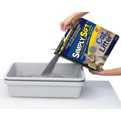 Simply Sift 3 Piece No Mess Cat Litter Tray System As
