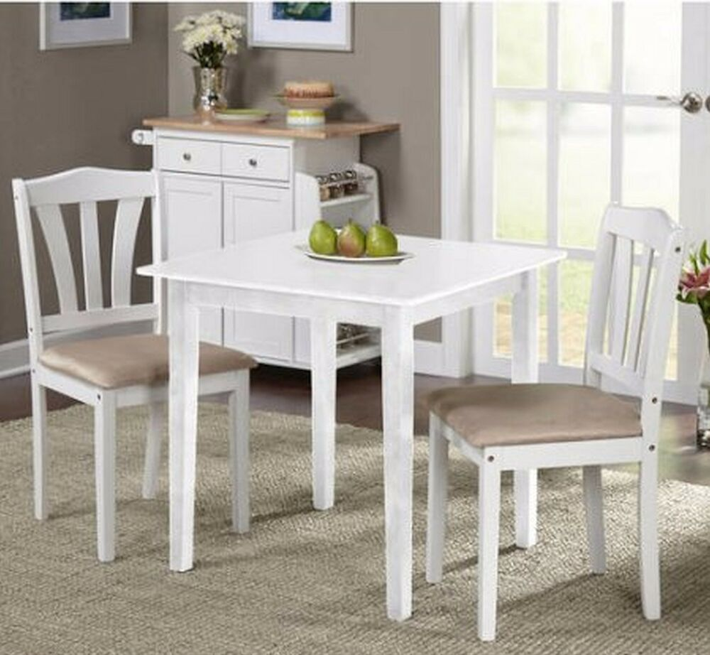 Small kitchen table sets nook dining and chairs 2 bistro for White kitchen table set