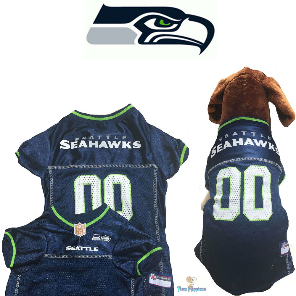 Details about NFL Pet Fan Gear SEATTLE SEAHAWKS Dog Jersey for Dog Dogs XS-2XL  XXL BIG SIZE 5013b52c6