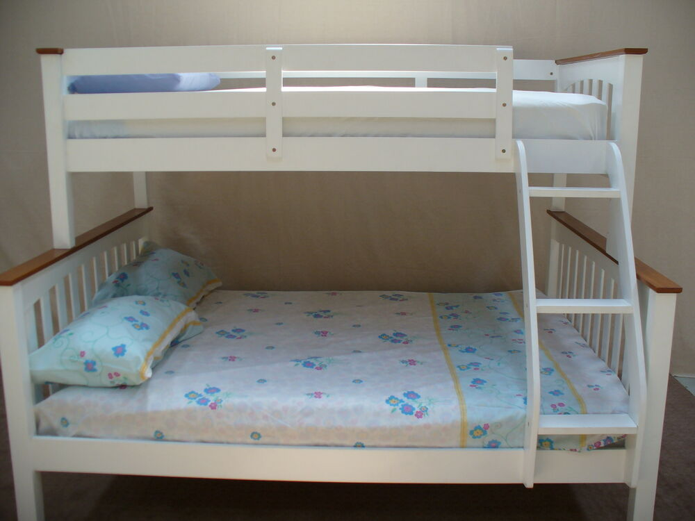 Bunk beds single double solid timber call 03 97810799 ebay for Single bunk bed
