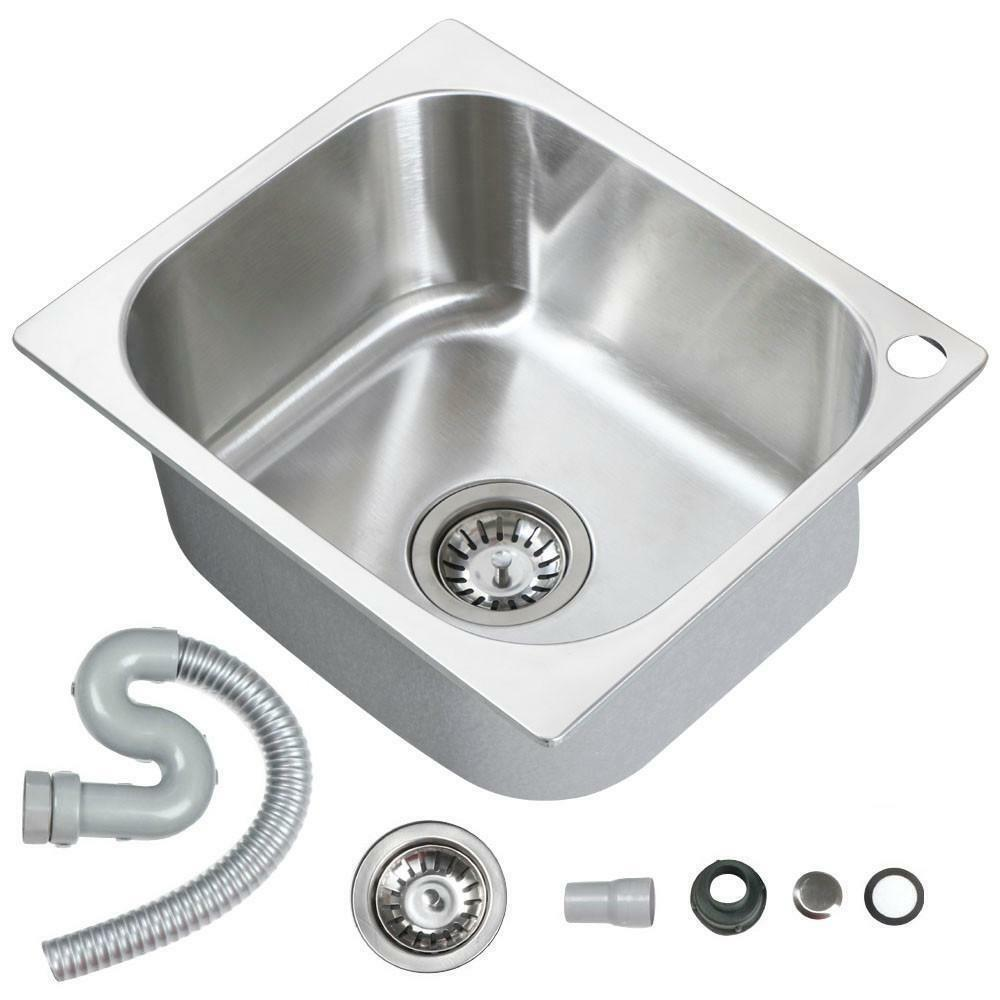 Small design stainless steel campervan motorhome kitchen for Designer kitchen sinks stainless steel