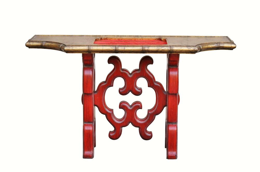 Red Chinoiserie Console Table Ebay