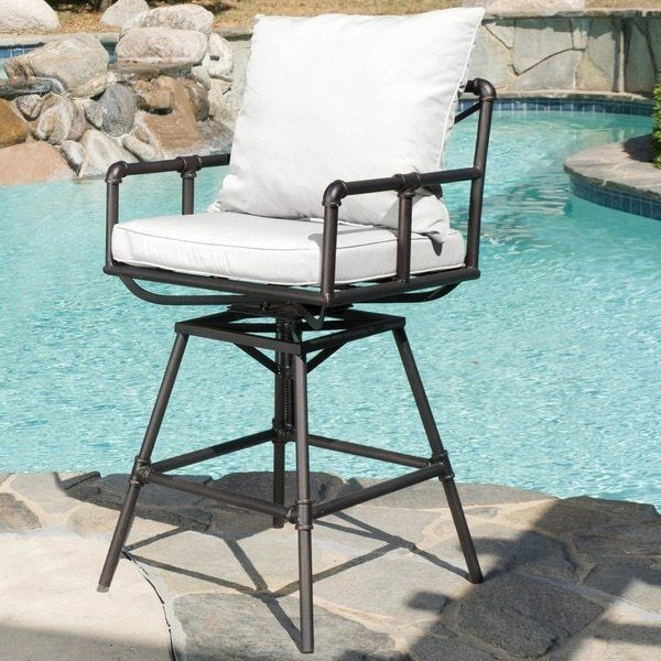 Home Northrup Pipe Outdoor Adjustable Bar Stool Cushions