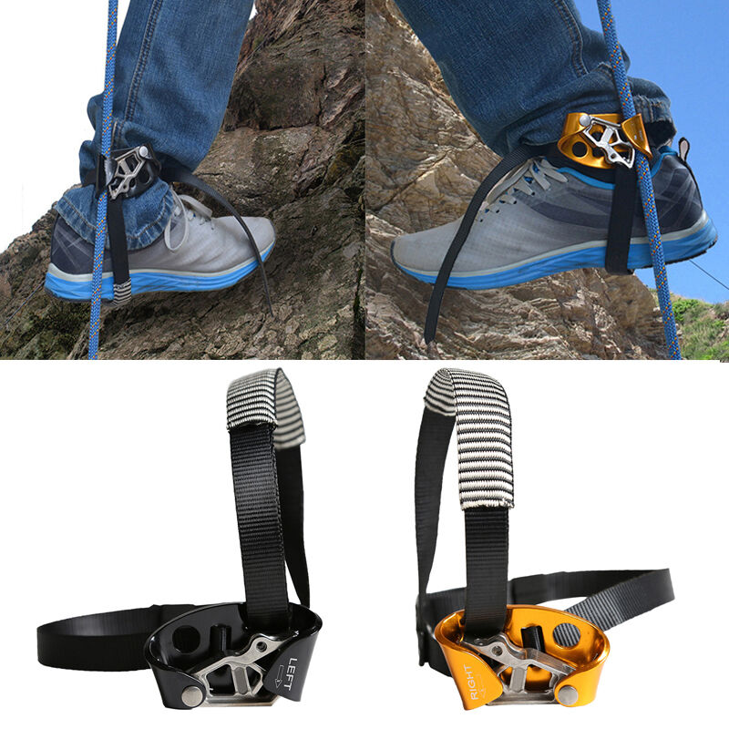 Outdoor Climbing  Left//Right Foot Ascender Riser Rock Mountaineering Equipment