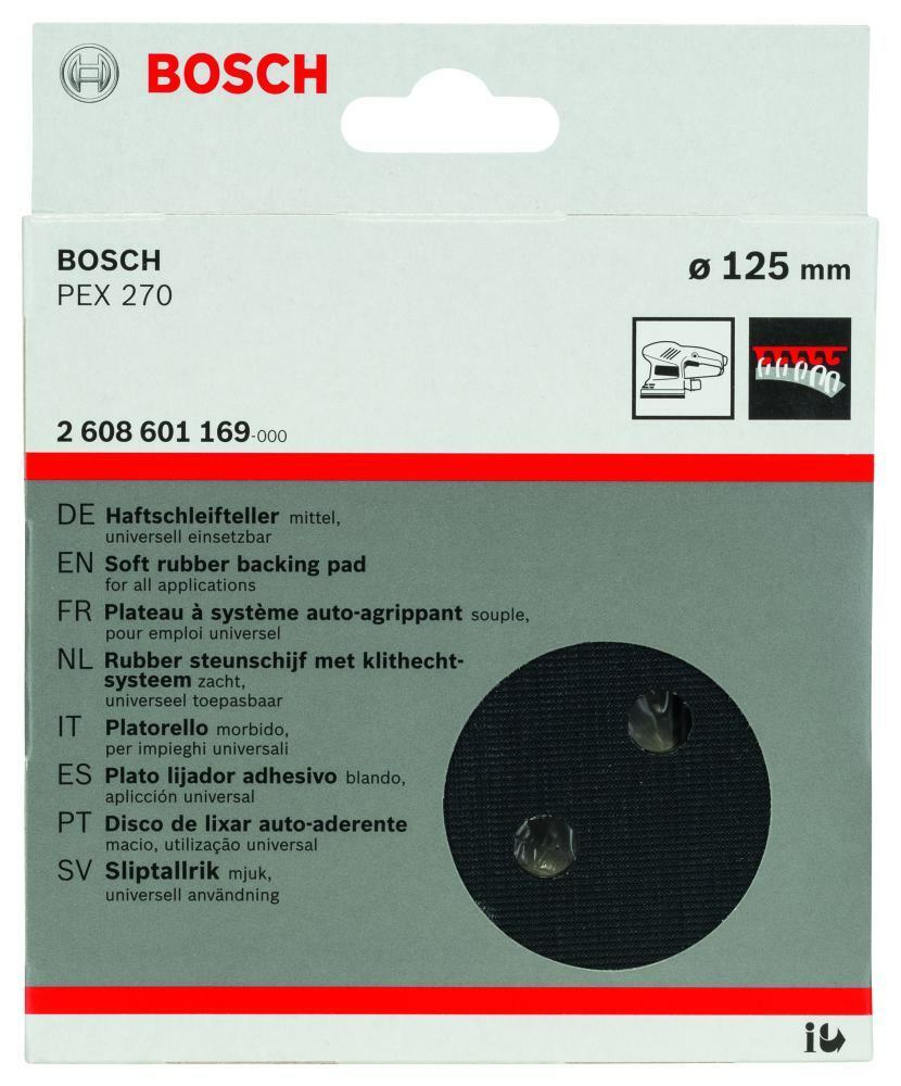 bosch schleifteller f r pex 270 125 mm ebay. Black Bedroom Furniture Sets. Home Design Ideas