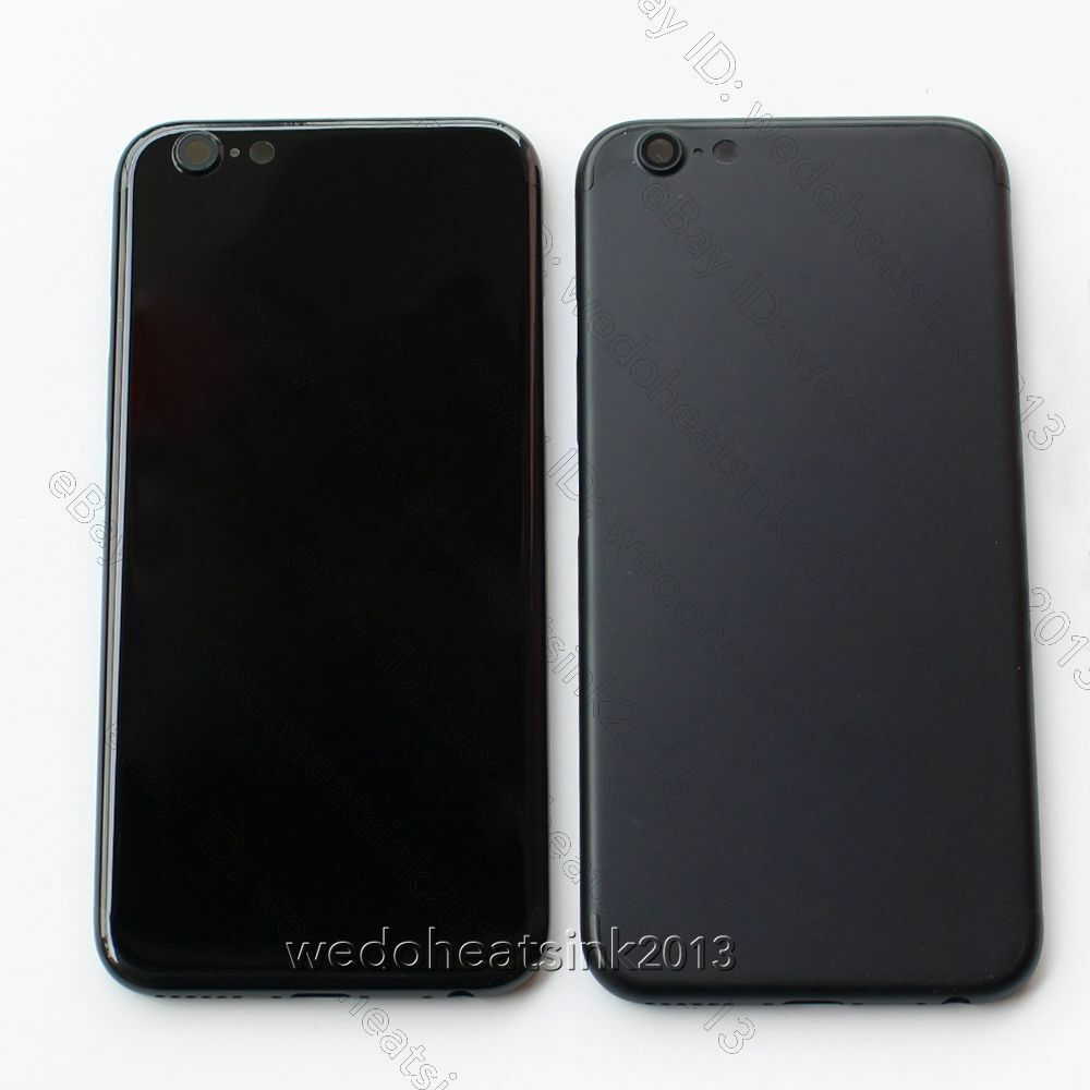 iphone 6 plus skins mirror jet black back rear housing cover for iphone 6 6s 6252