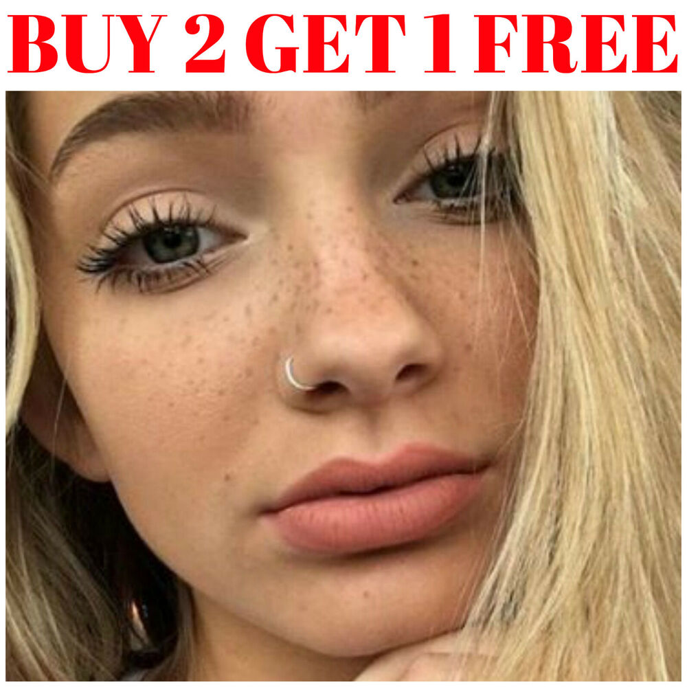Fake nose hoop jewellery watches ebay fake nose ring septum ring hoop cartilage tragus helix small thin piercing ccuart Images