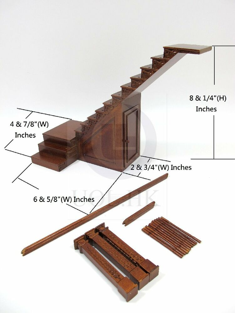 1 12 Scale Miniature Right Landing Staircase With Stock