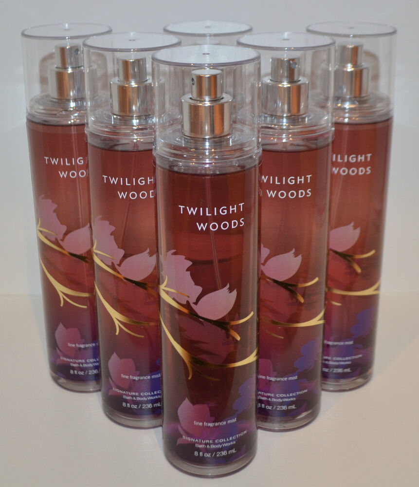 Lot Of 6 Bath Amp Body Works Twilight Woods Fine Fragrance