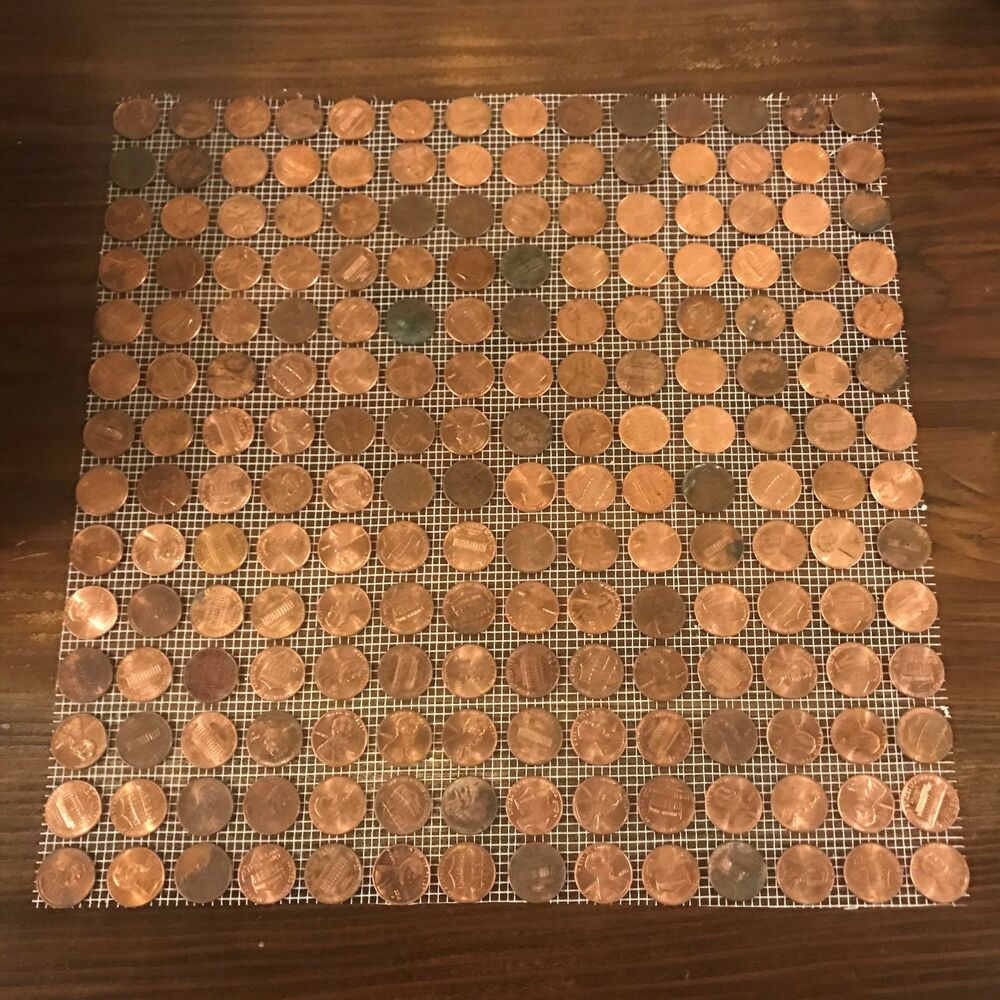30x tile sheets of us copper pennies actual penny tiles for Copper tile pennies