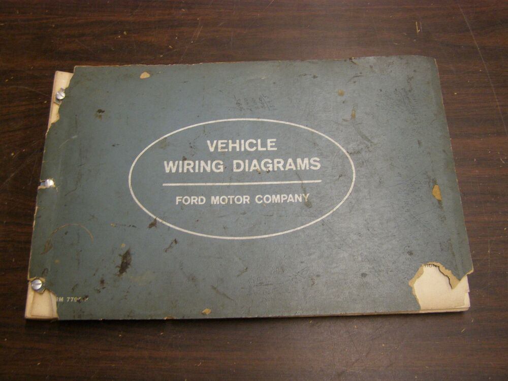 OEM Ford 1963 Wiring Diagram Book Galaxie Fairlane Comet ...