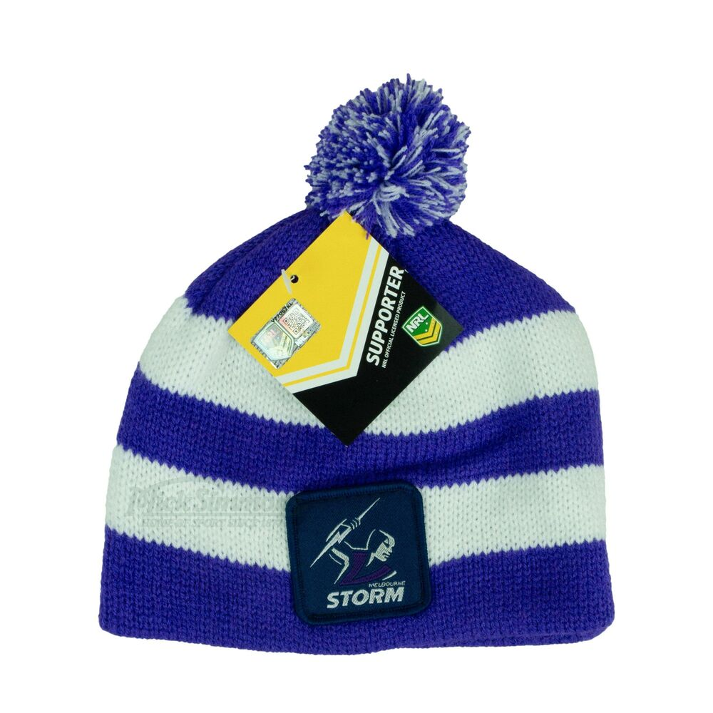 ce5cf1f0395 discount code for beanies nrl knit hat caps 70 39634 34673  clearance new  melbourne storm nrl baby beanie 9316467286316 ebay ecbd1 2b67f