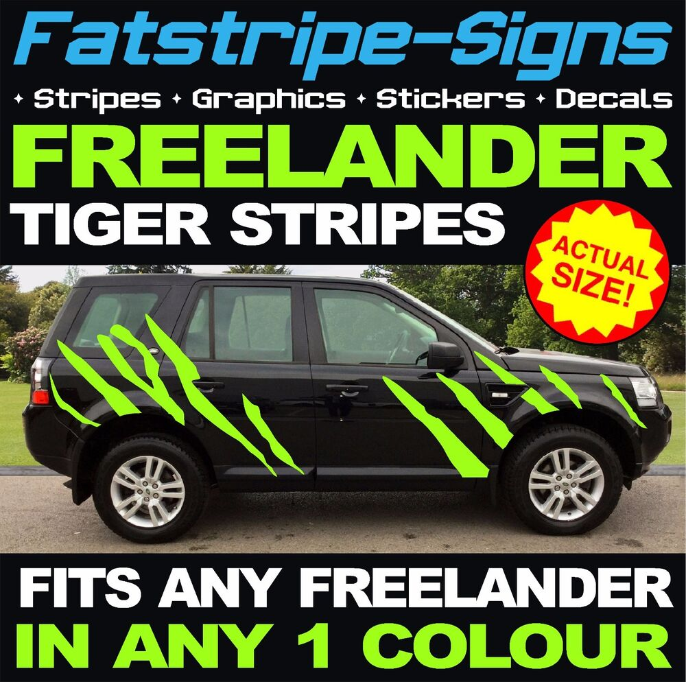 Landrover Discovery Side Stripe Decals Stickers Land Rover: LAND ROVER FREELANDER TIGER STRIPES VINYL GRAPHICS DECALS