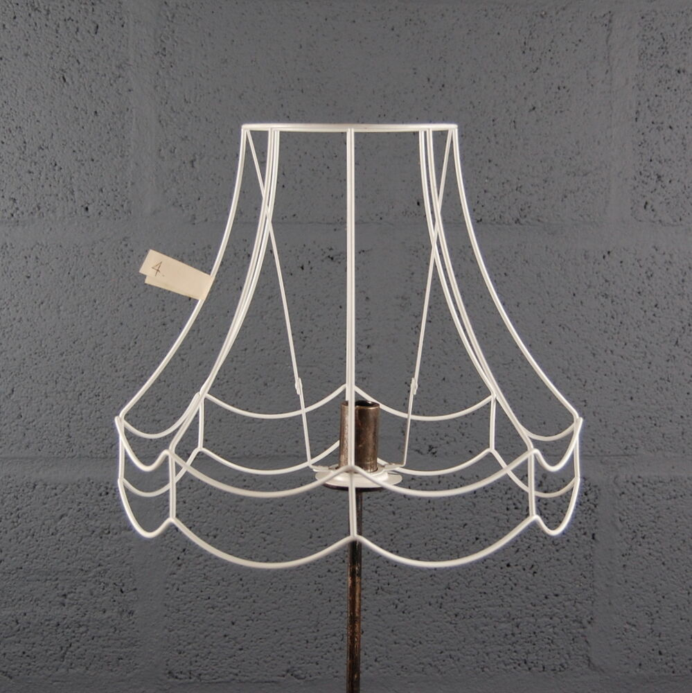 12 Double Scollop Wire Lampshade Lamp Shade Frame Ebay