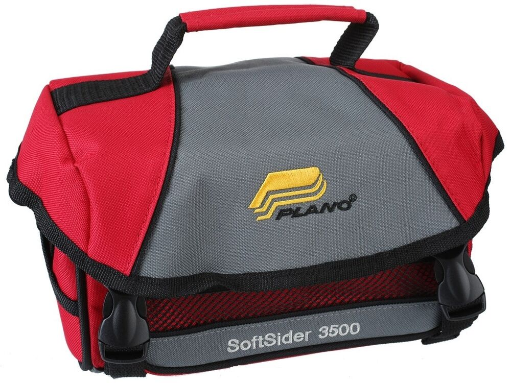 Plano weekend softsider 3500 soft sided tackle bag box w for Ice fishing bag