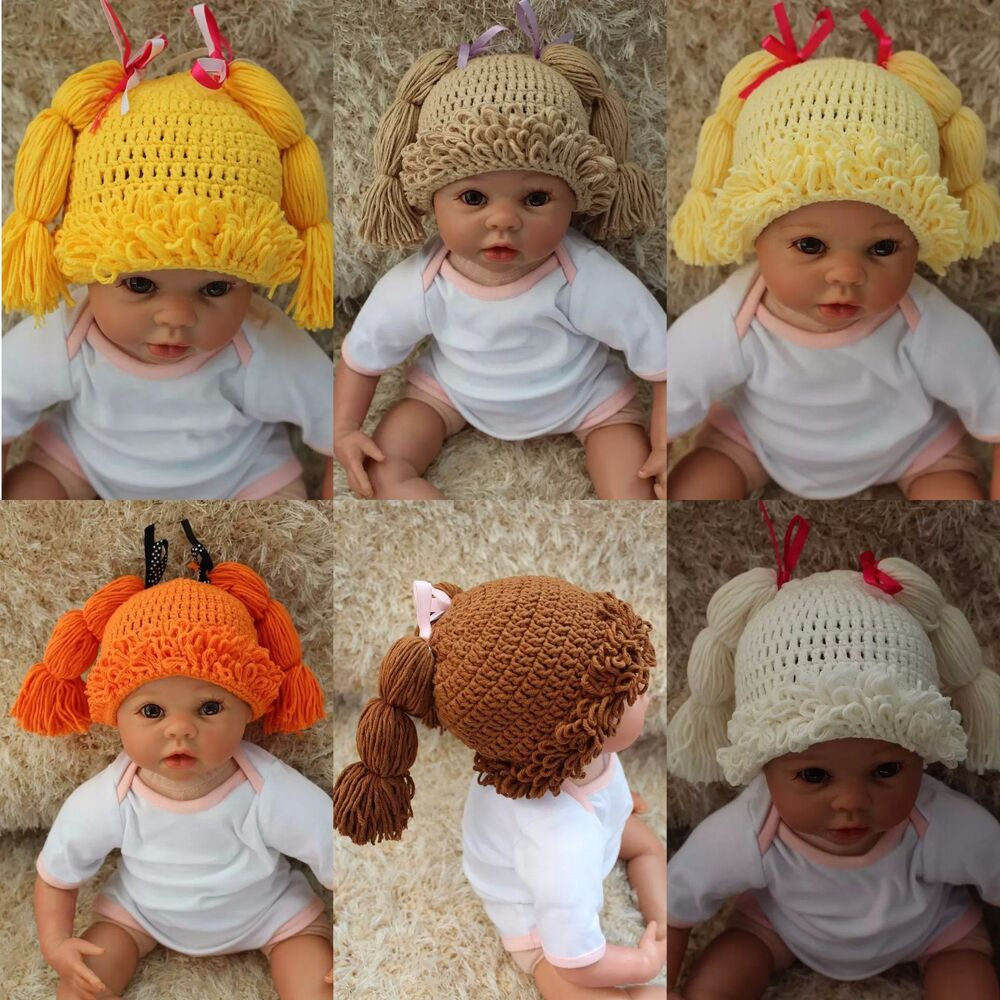 New Cabbage Patch Dolls Hat Knit Crochet Baby Hat Broccoli Hat Wig ...