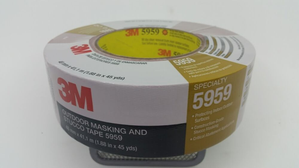 3m 5959 outdoor stucco masking duct tape in x 45 yds red 1 roll ebay