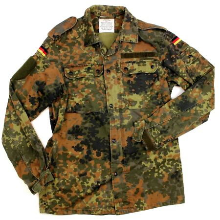 img-GENUINE BUNDESWEHR GERMAN ARMY COMBAT SHIRT / JACKET in FLECKTARN CAMO