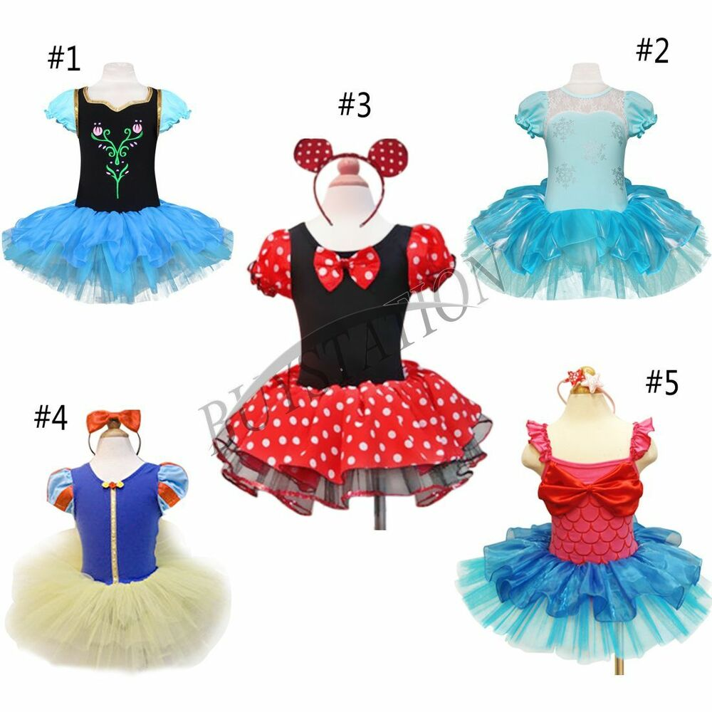 Girls Kids Minnie Mouse Dress Up Party Fancy Costume