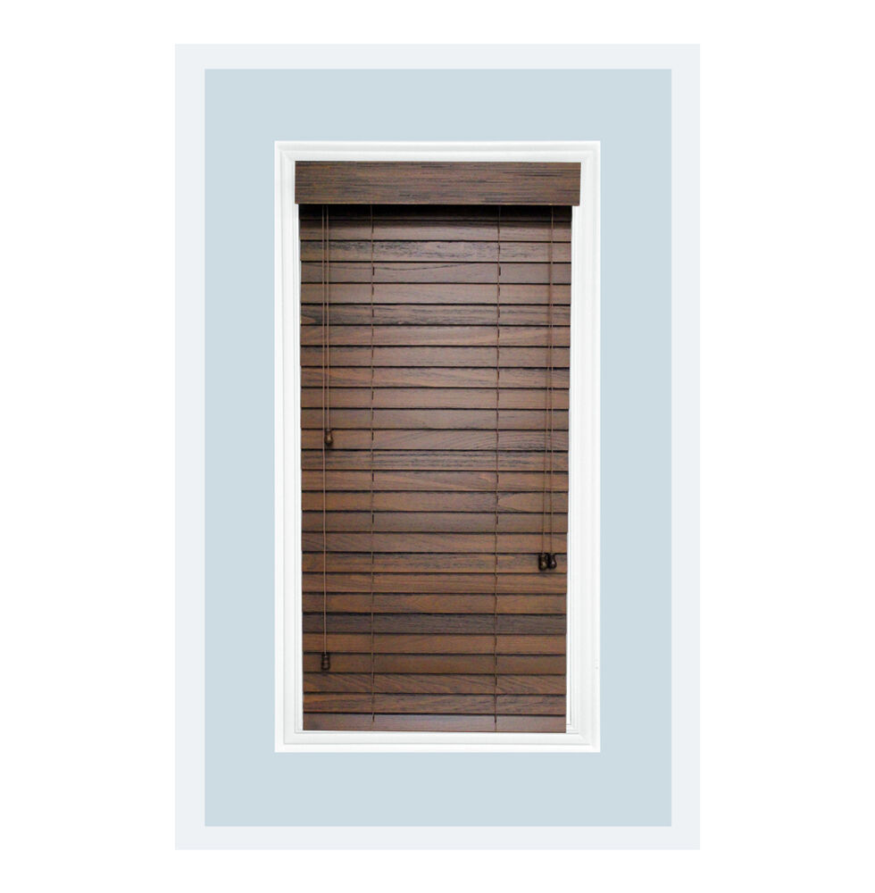 Custom Made 2 Quot Real Wood Rustic Horizontal Window Blind