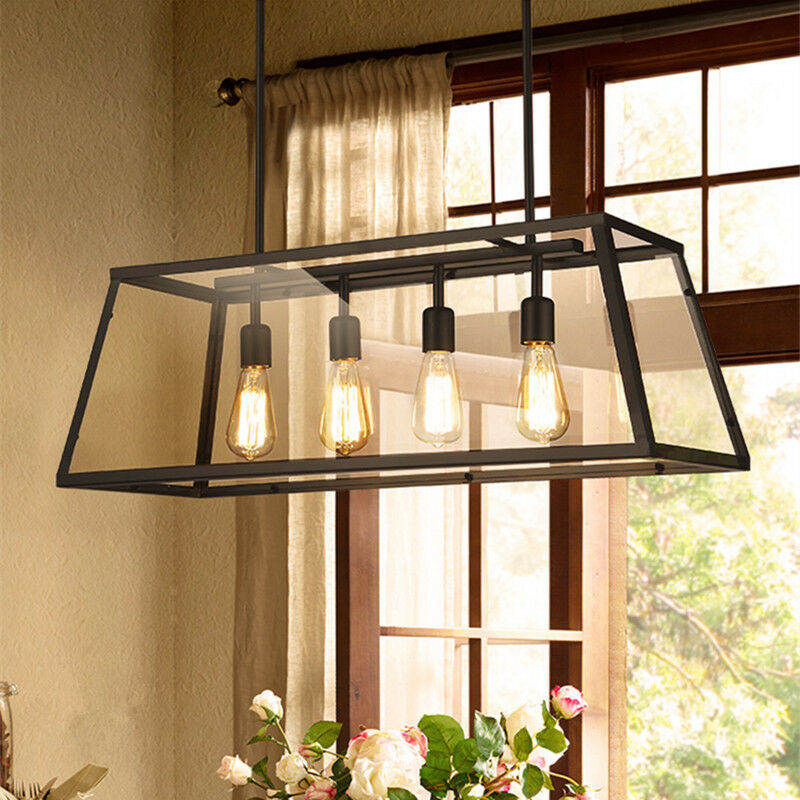 Vintage Pendant Light Large Chandelier Lighting Kitchen